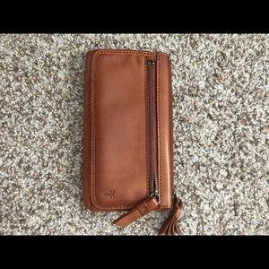 Frye Heidi wallet brown tan